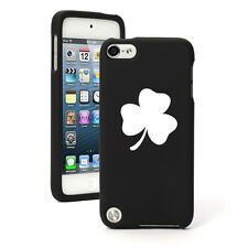 For Apple iPod Touch 4th 5th 6th Rubber Hard Case Cover 3 Leaf Clover Shamrock