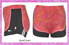 Girls Black w/ Pink Patterend Layered Gym Aerobic Dance Running Shorts Lonsdale