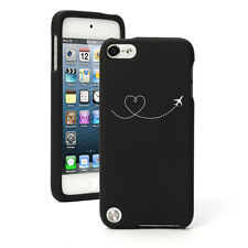 For Apple iPod Touch 4th 5th 6th Rubber Hard Case Heart Love Travel Airplane