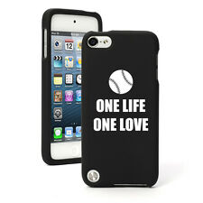 For Apple iPod Touch 4th 5th 6th Rubber Hard Case One Life Baseball Softball