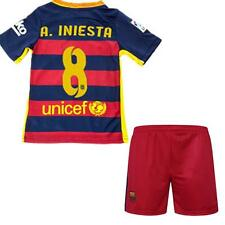 2015-16 Football Soccer Short Jersey Youth Kid boy 3-13 Y Barca Suit Sportswear