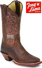 Women's Tony Lama C0106-L Brown Cognac Century Leather Western Cowgirl Boots