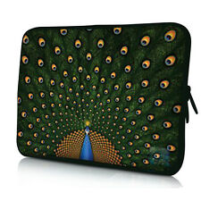 "NEW Peacock 13"" 13.3"" Notebook Laptop Double Zipper Sleeve Bag Case For HP Dell"