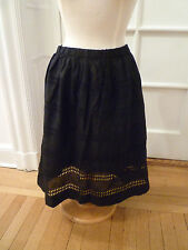 NWT: GAP Eyelet Cotton Full Skirt, Black or White, XS or Medium