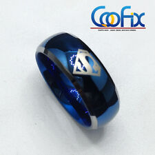 Superhero Super Man Blue 8mm Men's Tungsten Carbide Band Ring Bridal Jewelry