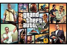 GTA 5 FIVE ONLINE - A3 & A4 SIZE High Quality LAMINATED Poster, GAME GAMING