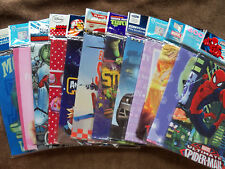 New BookCover Stretchable 8x10 or10.5x11.5 Fabric Sox School Student Clearance $