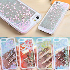 Bling Sparkle Glitter Heart Dynamic Liquid Quicksand Case For iPhone 4 5s 5c 6 +