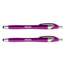 Pink Stylus Ball Point Pen for Touch Screen Devices 2 Pack Names Female N Neid