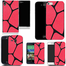 Hard back case cover for ALL POPULAR SMART PHONE MODELS red blocked pattern