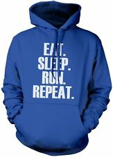 Eat Sleep Run Repeat Unisex Hoody Running Workout Various Colours & Sizes Hoodie