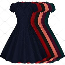 Womens Vintage Rockabilly Retro Pinup Swing Skater Prom Ball Party Evening Dress