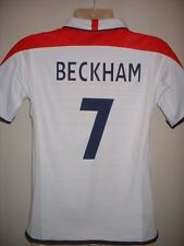 England BECKHAM Umbro Reversible Football Soccer Jersey Shirt Boy/Girl/Youth