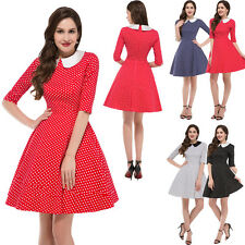 Vintage Retro Style Swing 50s 60s Housewife Pinup Rockabilly Dancing Party Dress