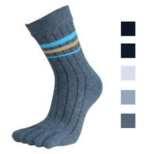 Fashion 1 Pair Mens Socks Cotton Middle Tube Sports Five Finger Toe Dress Socks