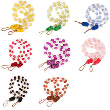 2pcs Modern Acrylic Beaded Window Curtain Rope Tie Backs TIEBACKS Holdback