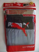 Puma Underwear Underpants 2pk Premium Boxer Briefs Boys Select Size Color NIP