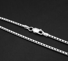 2mm Solid Nickel Free Italian Venetian Box Chain Necklace 925 Sterling Silver