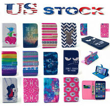 New PU Leather Stand Flip Wallet Card Holder Case Cover For Samsung Galaxy Phone