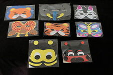 Jungle insect Animal foam face mask dress up masks animals party bag fillers
