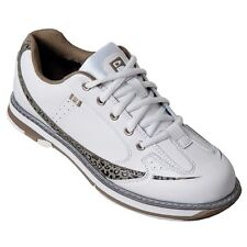 Brunswick Curve White/Leopard Womens Bowling Shoes