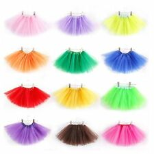 Fashion Girl Kids 3 Layer Tutu Ballet Dance Dress Skirt Pettiskirt Costume 2-7 Y