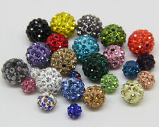 New Czech Crystal Rhinestones Pave Clay 20PCS Round Disco Ball Spacer Beads