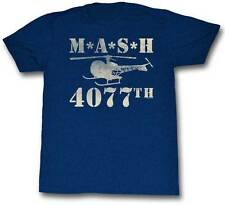 MASH 4077th Helicopter Men's Blue T-Shirt S,M,L,XL,2XL
