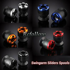 8mm Carbon Swingarm Sliders Spools For Honda CBR600RR CBR954RR CBR400RR