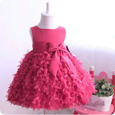 Flower Girls Princess Bow Dress Toddler Baby Wedding Party Pageant Chiffon Dress