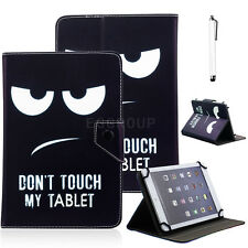 Don't Touch My Pad PU Leather Folio Smart Case Cover Stand for 7 inch Tablet PC