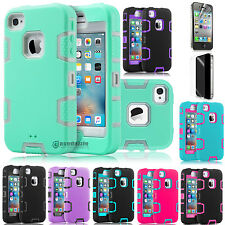 Slim Hybrid Rubber ShockProof Protective Hard Case Cover for Apple iPhone 4 4S