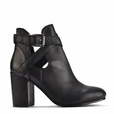 Ash Footwear Famous Black Leather Heeled Boot RRP £175