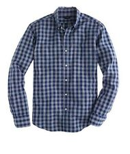 NEW MENS XS & L  J CREW SLIM JASPE COTTON SHIRT IN GINGHAM HEATHER HAVEN BLUE