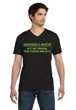 Engineer's Motto - Funny V-Neck T-Shirt Engineering Joke