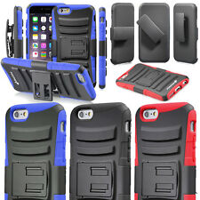 Protective Hybrid Case Cover with Kickstand Holster For Apple iPhone 6 Plus 5.5""