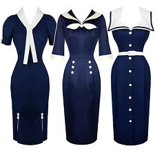 Clearance Hell Bunny Dresses New Bargain Sale 50s Nautical Sailor Summer 2015
