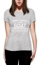 What Happens On The Boat Stays On The Boat - Funny Women T-Shirt Sailing Party