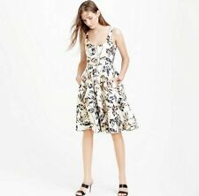 NEW WOMENS J CREW LINEN ZIP FRONT DRESS IN GOLD FOIL LEAF WEATHERED CHARCOAL NWT