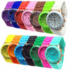 1PCS Colorful Unisex Geneva Silicone Jelly Gel Quartz Analog Sports Wrist Watch