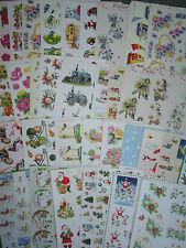 A4 3D Card Making Decoupage Sheets Embellishments - 39 designs - SALE 3 FOR 2