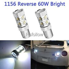 White 1156 BA15S 60W LED High Power Car Parking Side MarkerTurn Brake Light Bulb