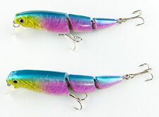 1/2/3/5/10PC Medium Bait Three Sections 110mm 4.3inch 15.5g Tackle Fishing Lure