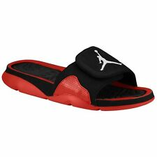 Jordan 705163-001:Nike Air Jordan Hydro 4 Slide Men's Sandals Black/White/Red