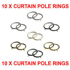 Speedy 28mm Metal Curtain Pole Rings, Fit any 28mm Poles, 10 Pack  4 Colours