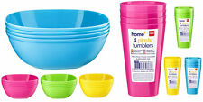 New 8 Plastic Outdoor Camping Picnic Kids BBQ Party Plates & Tumbler Glass