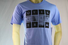 "QUIKSILVER ""LOOKING GLASS"" BLUE (LBH) GRAPHIC T-SHIRT Size Large"