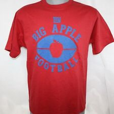 NEW Mens REEBOK New York GIANTS Big Apple Football Crimson Red Tee T-Shirt