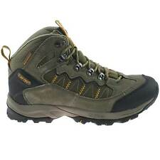 MENS HI-TEC WATERPROOF HIKING BOOTS SIZE UK 7 - 12 SUEDE SMOKEY BROWN OCALA