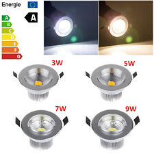 Hot 3W 5W 7W 9W Dimmable COB LED Ceiling Recessed Fixture Downlight Silver Case